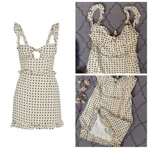 For Love And Lemons Dresses - 🎉HP🎉NWPT- For ❤️&🍋 Chic Sweetheart Ruffle Dress